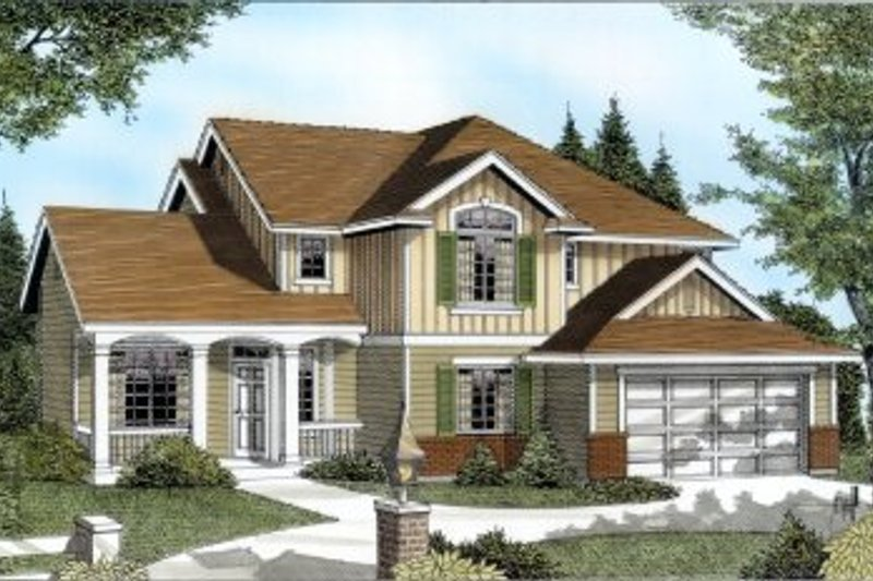 Traditional Exterior - Front Elevation Plan #100-224 - Houseplans.com