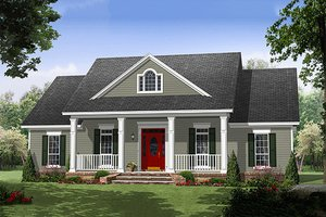 Home Plan - Southern Exterior - Front Elevation Plan #21-354