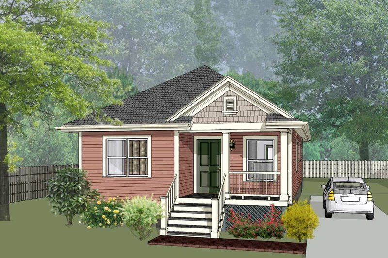 Cottage Style House Plan - 3 Beds 2 Baths 1080 Sq/Ft Plan #79-129 Exterior - Front Elevation