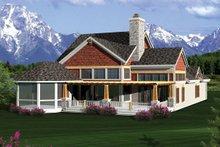 Dream House Plan - Craftsman Exterior - Rear Elevation Plan #70-1055