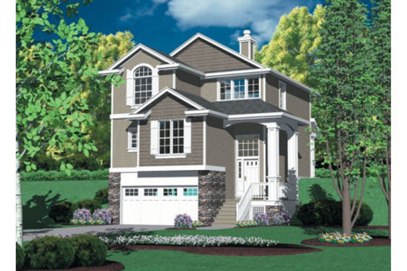 Dream House Plan - Traditional Exterior - Front Elevation Plan #48-441