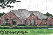 European Style House Plan - 4 Beds 3.5 Baths 2990 Sq/Ft Plan #310-559 Exterior - Other Elevation