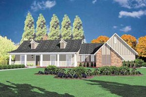 Architectural House Design - Country Exterior - Front Elevation Plan #36-137