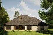 Craftsman Style House Plan - 3 Beds 3.5 Baths 3054 Sq/Ft Plan #923-168 Exterior - Rear Elevation