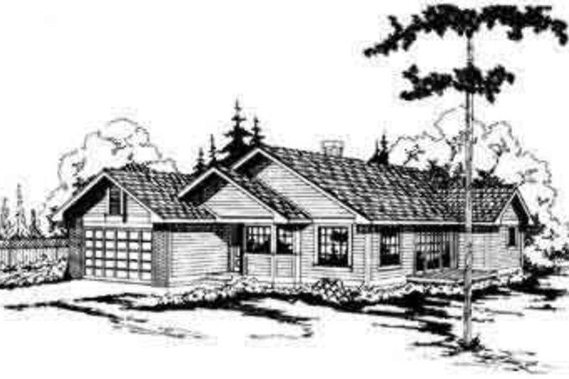Ranch Exterior - Front Elevation Plan #124-112 - Houseplans.com