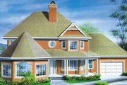 Victorian Style House Plan - 4 Beds 1.5 Baths 2615 Sq/Ft Plan #25-4101 Exterior - Front Elevation