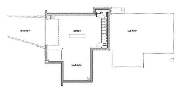 Modern Floor Plan - Lower Floor Plan Plan #496-1