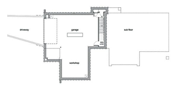 Modern Floor Plan - Lower Floor Plan #496-1