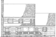 Colonial Style House Plan - 4 Beds 3 Baths 2631 Sq/Ft Plan #137-145 Exterior - Rear Elevation