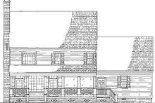 Colonial Exterior - Rear Elevation Plan #137-145