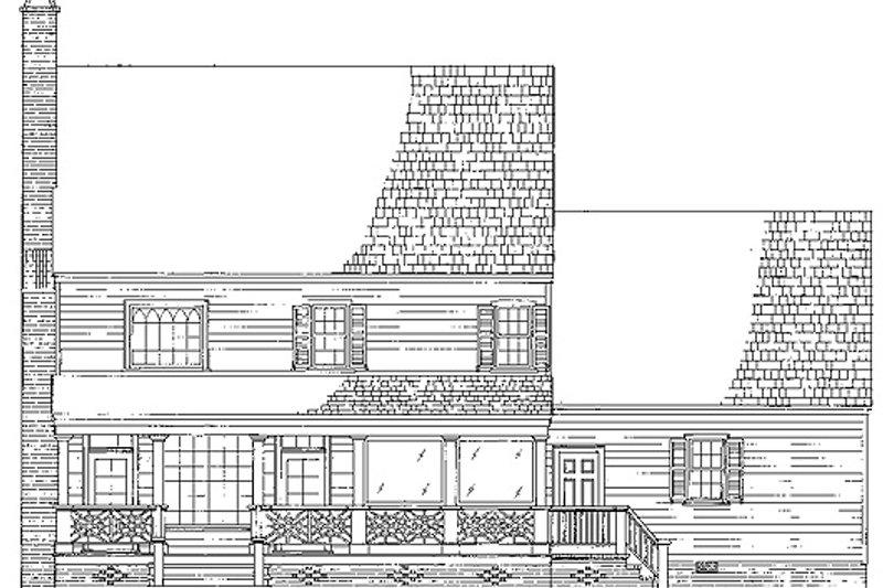 Colonial Exterior - Rear Elevation Plan #137-145 - Houseplans.com
