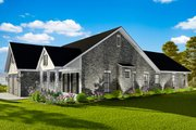 Cottage Style House Plan - 3 Beds 2 Baths 1725 Sq/Ft Plan #406-9660 Exterior - Other Elevation
