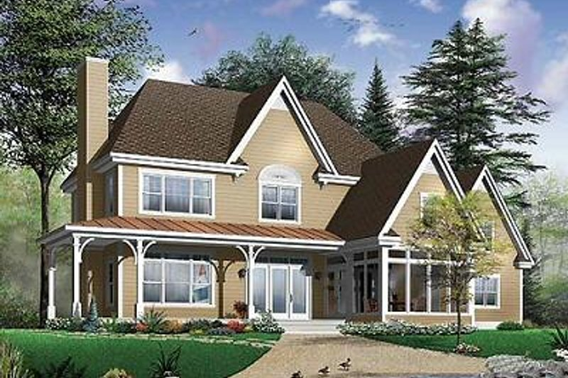 Dream House Plan - Farmhouse Exterior - Front Elevation Plan #23-877