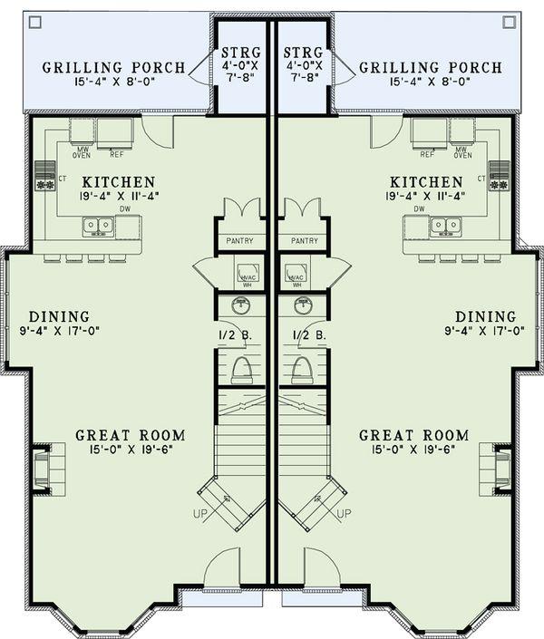 European Floor Plan - Main Floor Plan Plan #17-2527