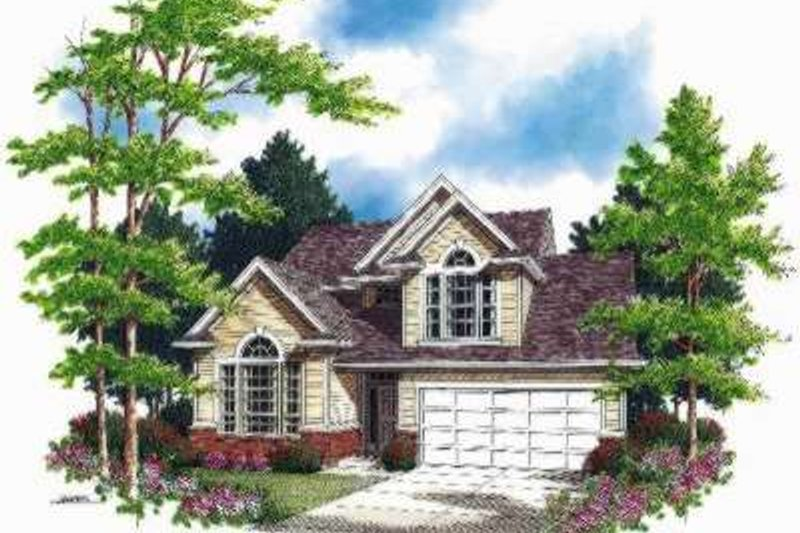 Home Plan - Traditional Exterior - Front Elevation Plan #48-137