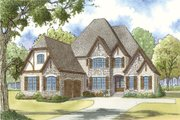 European Style House Plan - 4 Beds 3.5 Baths 3213 Sq/Ft Plan #923-31 Exterior - Front Elevation