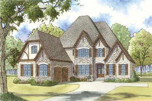 European Exterior - Front Elevation Plan #923-31