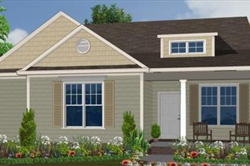 Farmhouse Style House Plan - 3 Beds 2 Baths 1619 Sq/Ft Plan #63-135 Exterior - Front Elevation