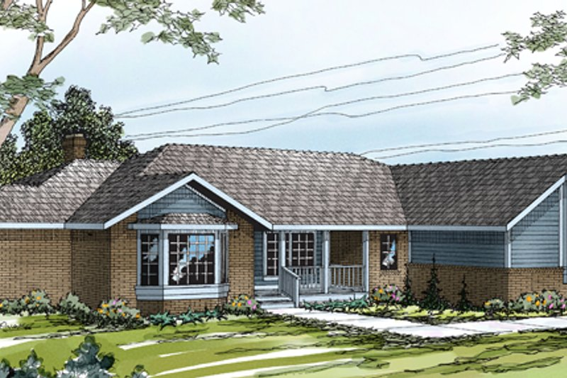Home Plan - Traditional Exterior - Front Elevation Plan #124-177