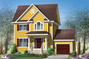 Traditional Style House Plan - 3 Beds 1 Baths 1542 Sq/Ft Plan #25-4579 Exterior - Front Elevation