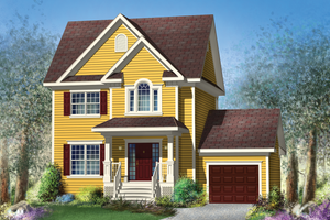 Traditional Exterior - Front Elevation Plan #25-4579