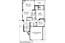 Ranch Floor Plan - Main Floor Plan Plan #70-1241