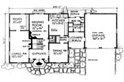 Colonial Style House Plan - 3 Beds 2.5 Baths 2129 Sq/Ft Plan #315-101 Floor Plan - Main Floor