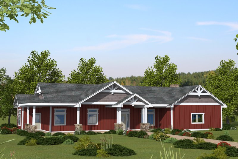 Home Plan - Ranch Exterior - Front Elevation Plan #117-904