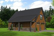 Cabin Style House Plan - 1 Beds 1 Baths 1646 Sq/Ft Plan #932-214