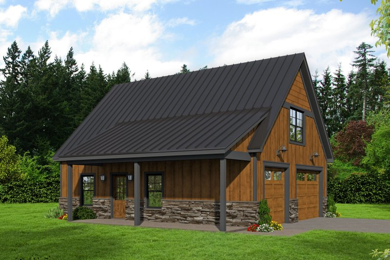 Home Plan - Cabin Exterior - Front Elevation Plan #932-214