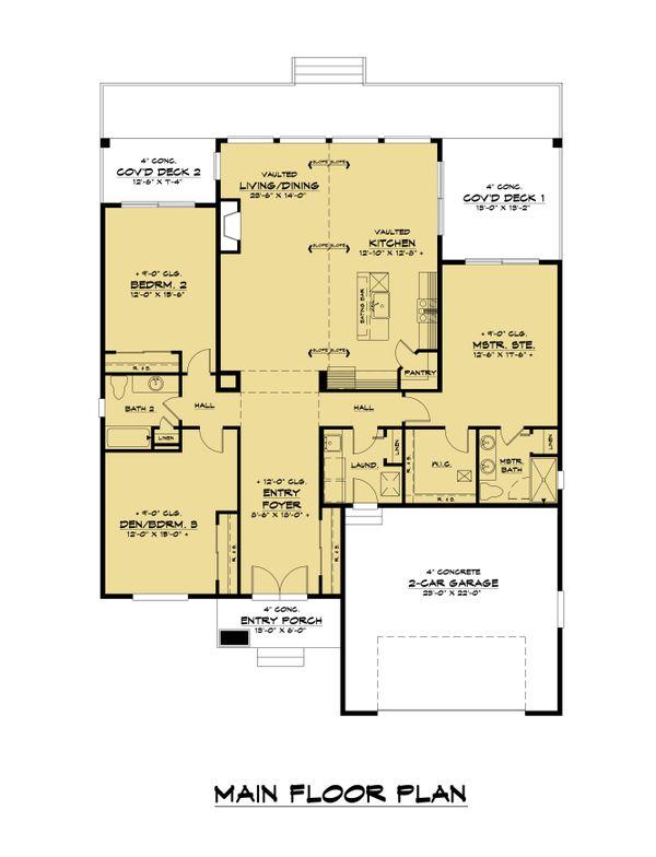 Traditional Floor Plan - Main Floor Plan #1066-122