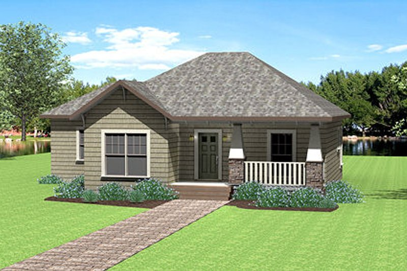 Country Exterior - Front Elevation Plan #44-177 - Houseplans.com