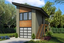 Architectural House Design - Modern Exterior - Front Elevation Plan #48-934