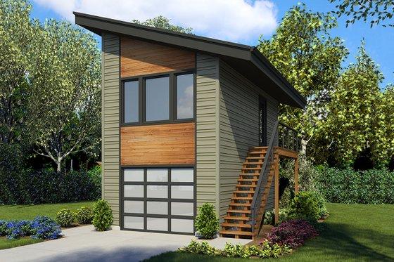 Modern Exterior - Front Elevation Plan #48-934