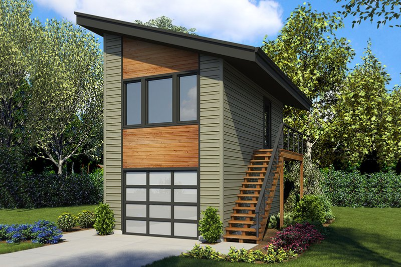 Modern Exterior - Front Elevation Plan #48-934