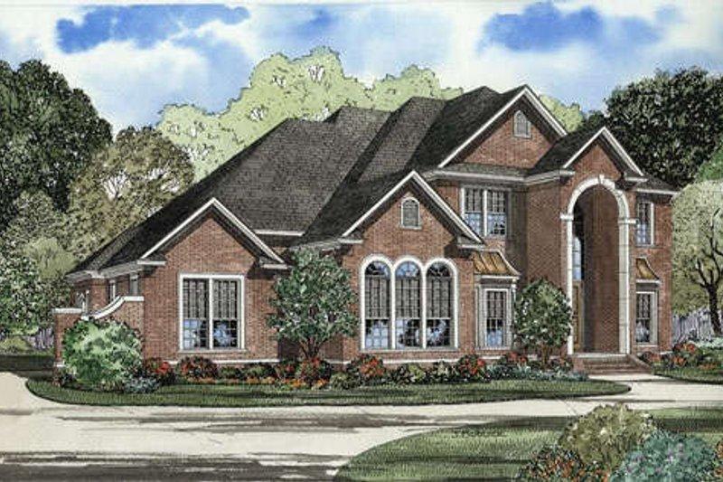 Dream House Plan - European Exterior - Front Elevation Plan #17-567