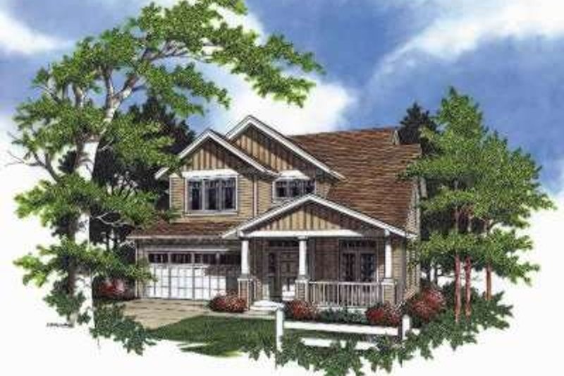 Craftsman Exterior - Front Elevation Plan #48-174