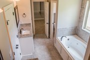 European Style House Plan - 4 Beds 2.5 Baths 2399 Sq/Ft Plan #430-142 Interior - Master Bathroom