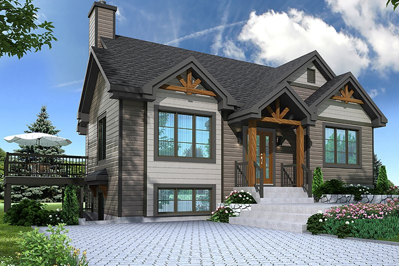 Country Style House Plan - 3 Beds 2 Baths 2134 Sq/Ft Plan #23-2685 Exterior - Front Elevation