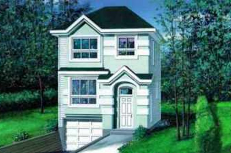 Traditional Style House Plan - 3 Beds 1.5 Baths 1349 Sq/Ft Plan #25-2146 Exterior - Front Elevation
