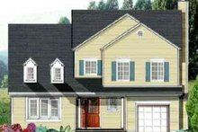 Colonial Exterior - Front Elevation Plan #3-198
