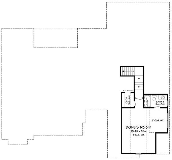Home Plan - Optional Bonus Level
