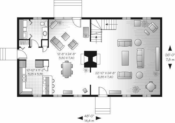 European Floor Plan - Main Floor Plan Plan #23-713