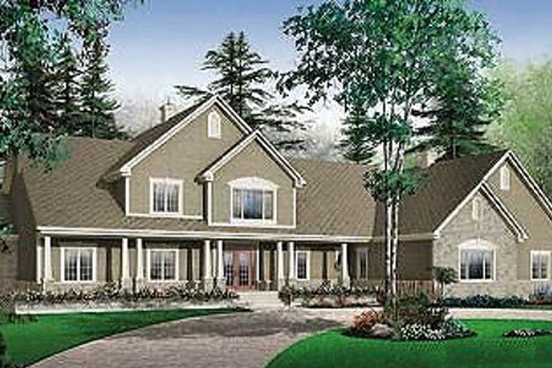Architectural House Design - Traditional Exterior - Front Elevation Plan #23-827