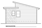 Modern Style House Plan - 1 Beds 1 Baths 320 Sq/Ft Plan #890-2 Exterior - Rear Elevation
