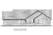 Country Style House Plan - 3 Beds 2.5 Baths 2022 Sq/Ft Plan #18-4506 Exterior - Rear Elevation