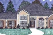 European Style House Plan - 4 Beds 3 Baths 2286 Sq/Ft Plan #69-110