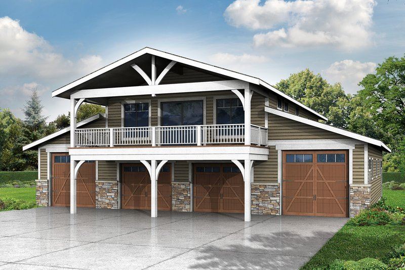 Craftsman Exterior - Front Elevation Plan #124-966