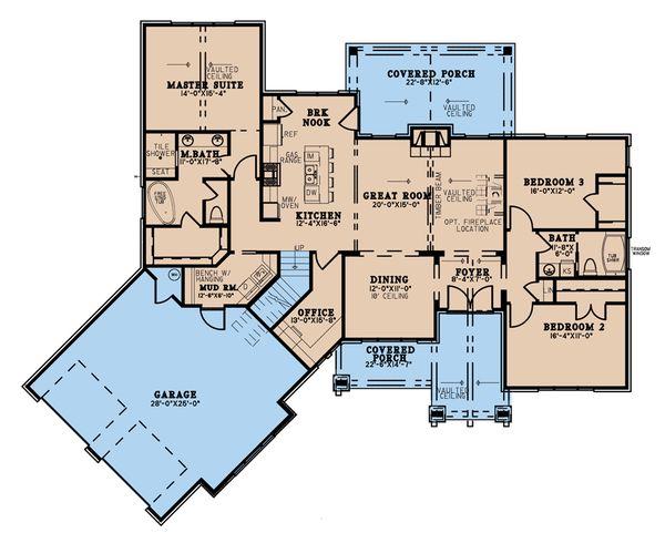 House Blueprint - Craftsman Floor Plan - Main Floor Plan #923-192