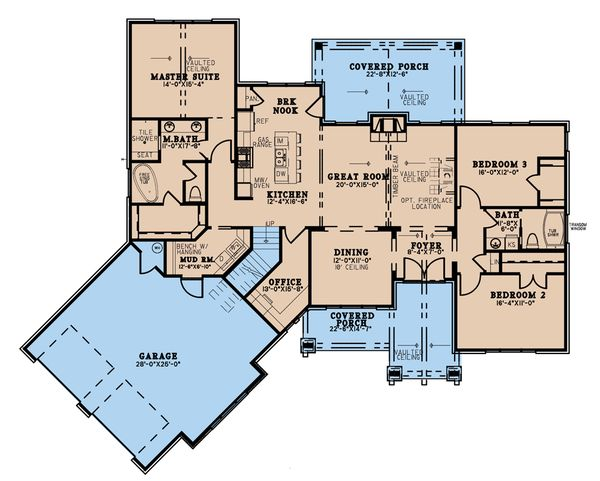 Dream House Plan - Craftsman Floor Plan - Main Floor Plan #923-192